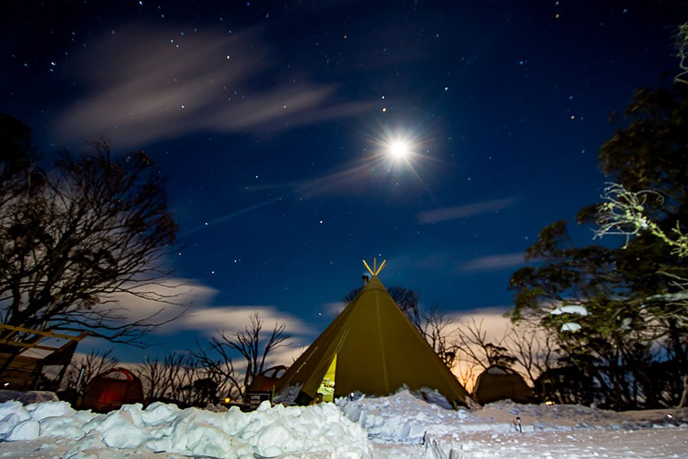 Clear night at the Eco-village