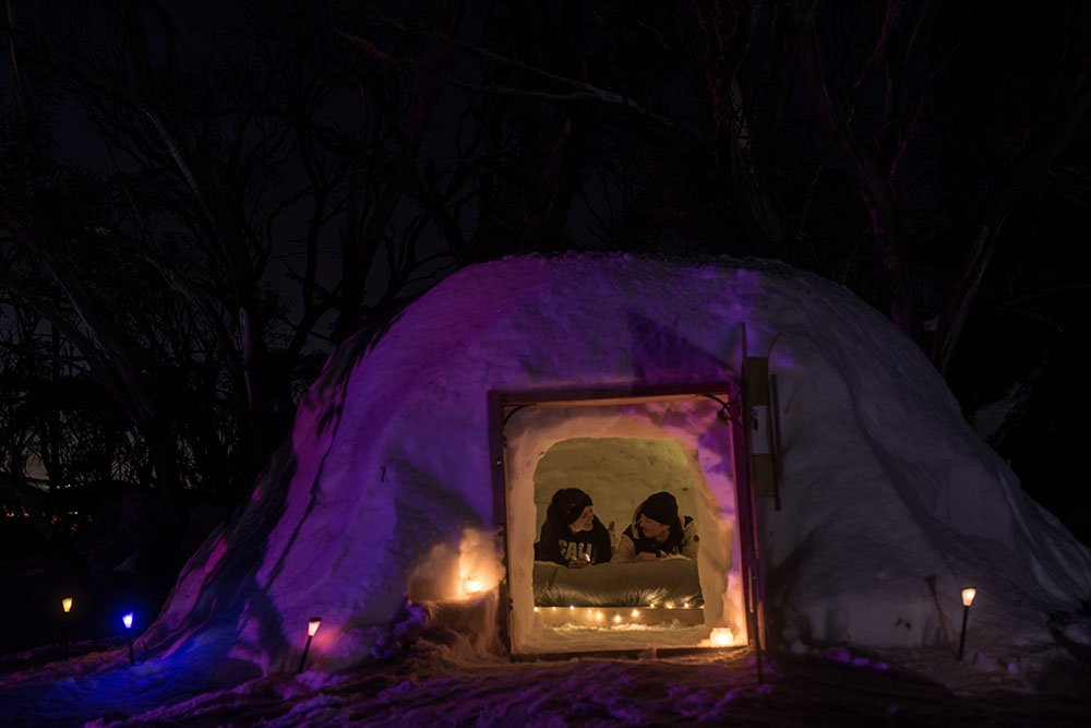 Ready for a cosy night in the igloo